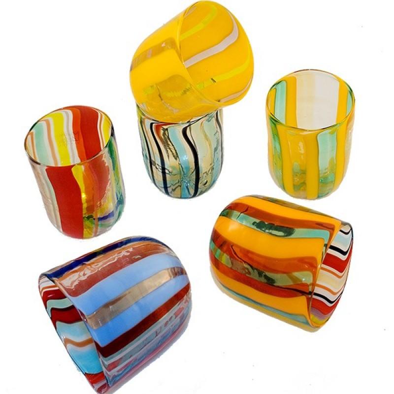 gl ser f r das trinken aus murano glas als goten fornase. Black Bedroom Furniture Sets. Home Design Ideas