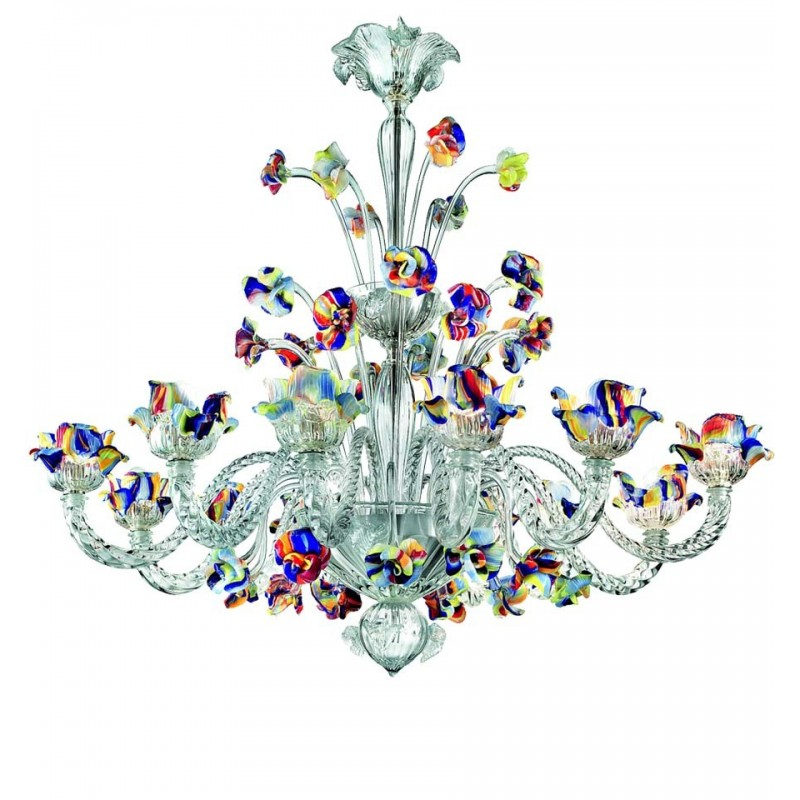 Murano glass chandeliers lamps in multicolor policromo aloadofball Choice Image