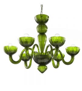 Murano glass chandeliers green color mimo aloadofball Gallery