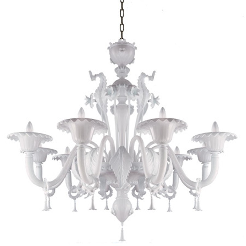 Veneziano - Murano glass 6 lights chandelier by La Murrina