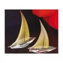 Segelboot in Gold